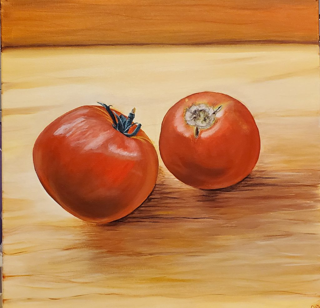 Apple and Onion Painting